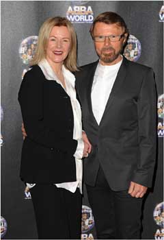 Frida Lyngstad and Bjorn Ulvaeus