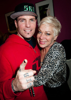Vanilla Ice and Denise Welch