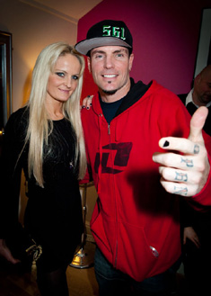 Katie Stainsby and Vanilla Ice