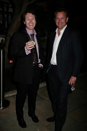 Nick Moran and Hugh Bonneville