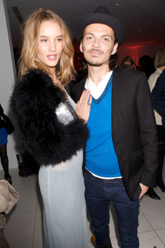 Rosie Huntington-Whiteley and Matthew Williamson